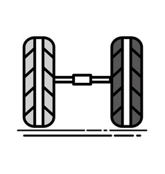 cute tires car style design vector image vector image