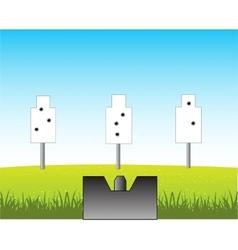 Dartboard in field vector