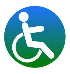 disabled sign white icon in vector image vector image