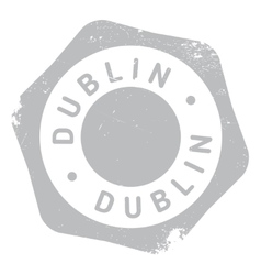 Dublin stamp rubber grunge vector