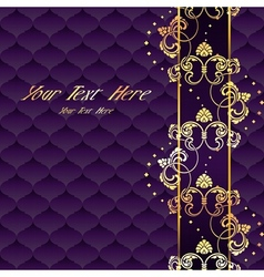 Elegant purple Rococo background vector image