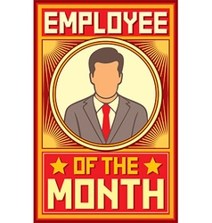 Employee of the month design vector image vector image