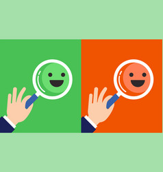 feedback concept design with emoticons vector image vector image