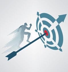 Financial Target vector image vector image