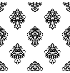Floral vintage seamless arabesque pattern vector