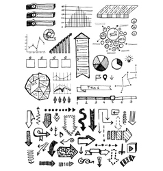 Hand drawn business infographics sketch or vector