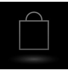 icon shopping bag vector image vector image