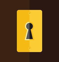 Keyhole in wooden door vector image vector image