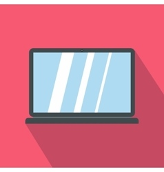 Laptop icon in cartoon style icon flat style vector image