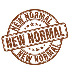 new normal brown grunge stamp vector image vector image