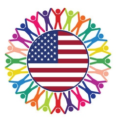 people of United States of America vector image vector image
