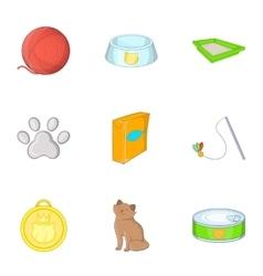 Pet shop icons set cartoon style vector image