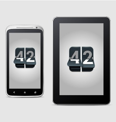 Phone and tablet with counter vector