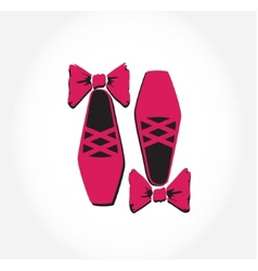 pink ballet pointes shoes vector image
