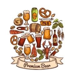 Premium beer concept vector