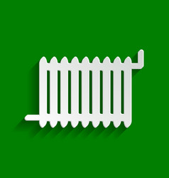 radiator sign paper whitish icon with vector image vector image