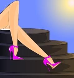 summer female legs vector image