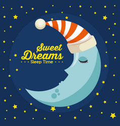 sweet dreams sleeping time icon vector image