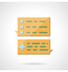 Task chat flat color icon vector image