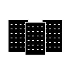 three building the black color icon vector image vector image