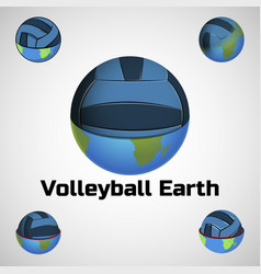 Volleyball ball earth vector