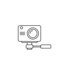 webcam line icon outline logo vector image