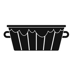 wooden tub icon simple style vector image vector image
