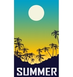 Summer night landscape vector