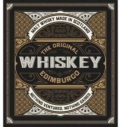 Retro whiskey label vector image