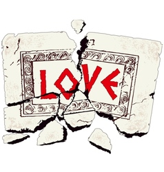 stone love vector image