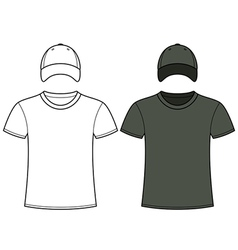 Blank t-shirt and cap template vector
