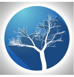 colorful tree icon vector image