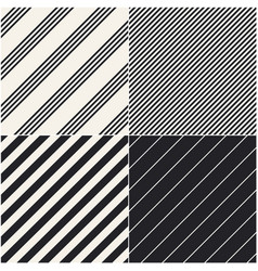 Four diagonal patterns collection diagonal lines vector