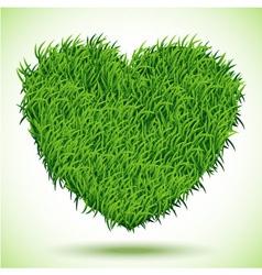 Heart green grass vector