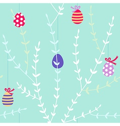 Branch easter pattern light vector