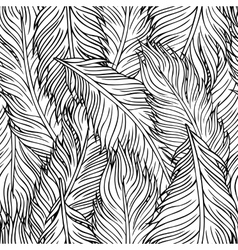 hand-drawn feathers vector image