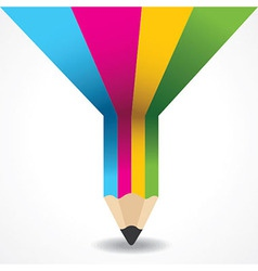 Creative info-graphic of pencil vector