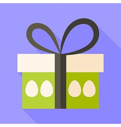 Easter present box with eggs vector