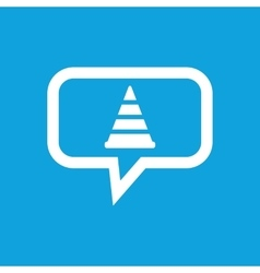 Traffic cone message icon vector