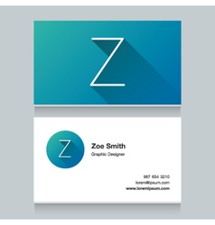 Business card letter z vector