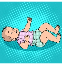 Joyful kid in the diaper vector