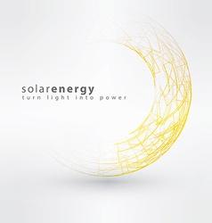 Sun icon made from power symbols Solar energy logo vector image