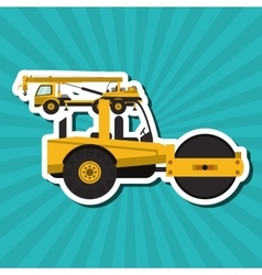 Road roller graphic design  editable graphic vector