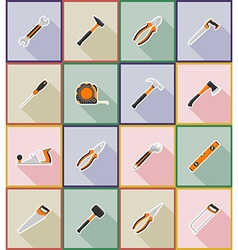 Repair tools flat icons 18 vector