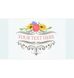 Vintage frame with beautiful flowers vector