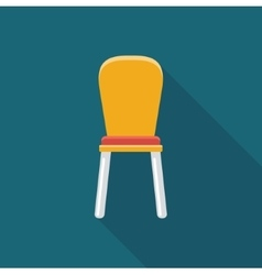 Chair simple flat icon vector