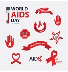 AIDS badges collection set Stop vector image vector image