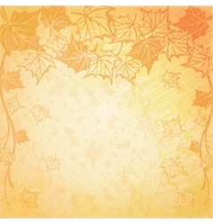 Background with maple autumn leaves vector image vector image