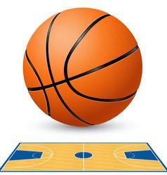 basketball court floor plan vector image vector image