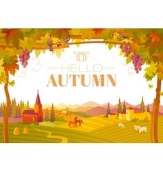 Beautiful autumn landscape vector